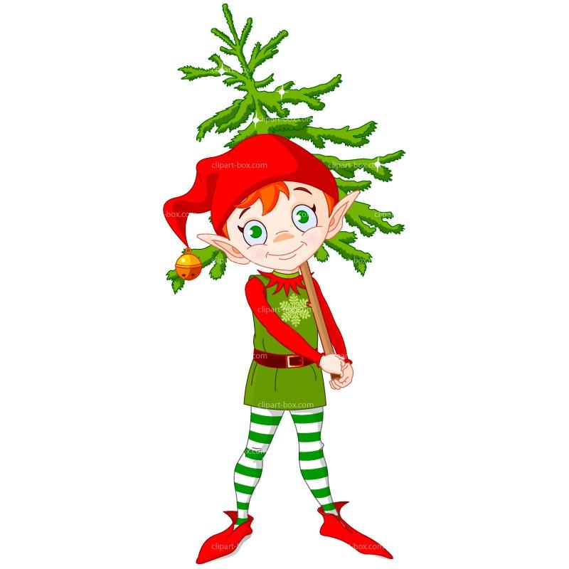 Funny Elf Clip Art.