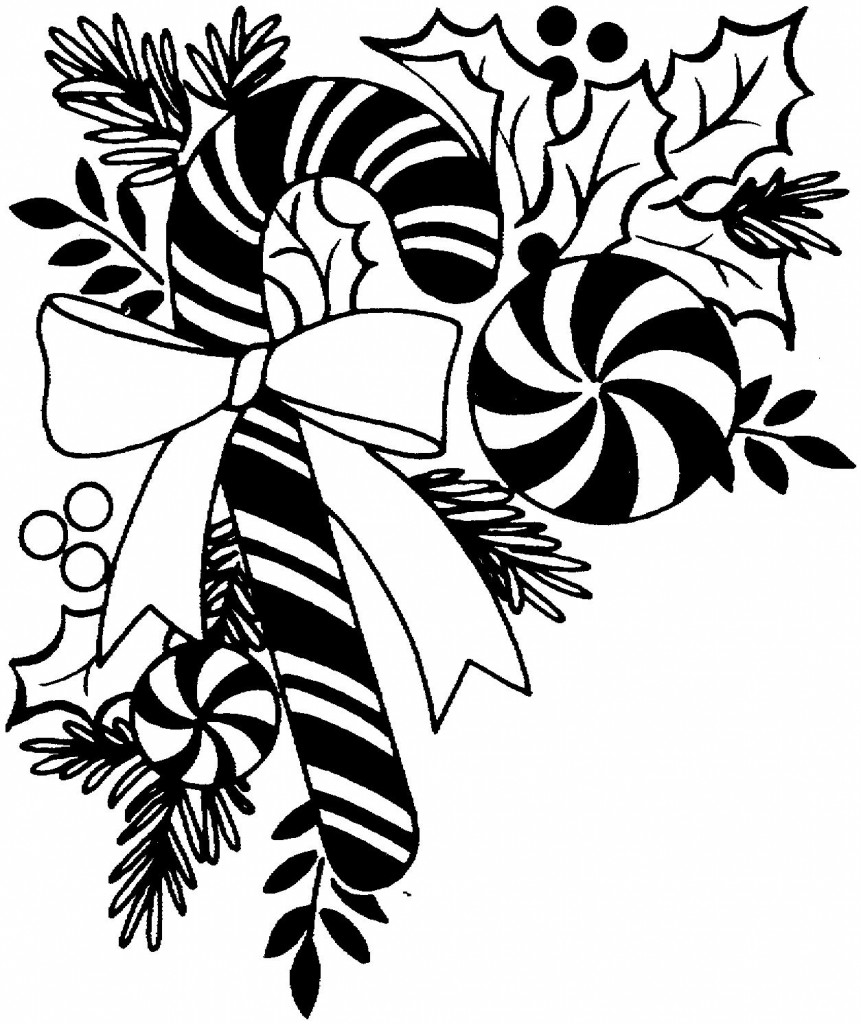 best christmas clipart black and white 7292