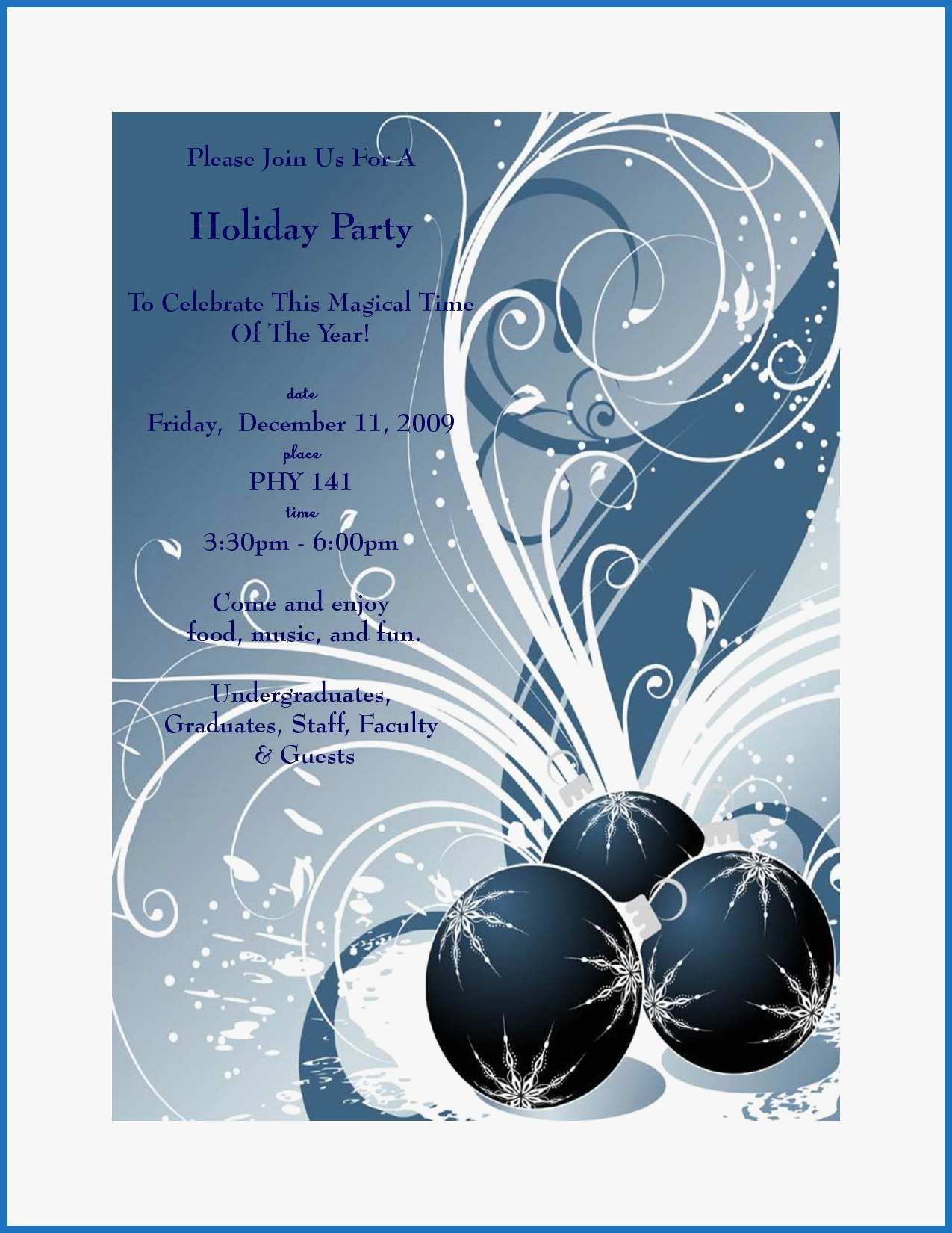 032 Free Christmas Party Flyer Templates For Microsoft Word.