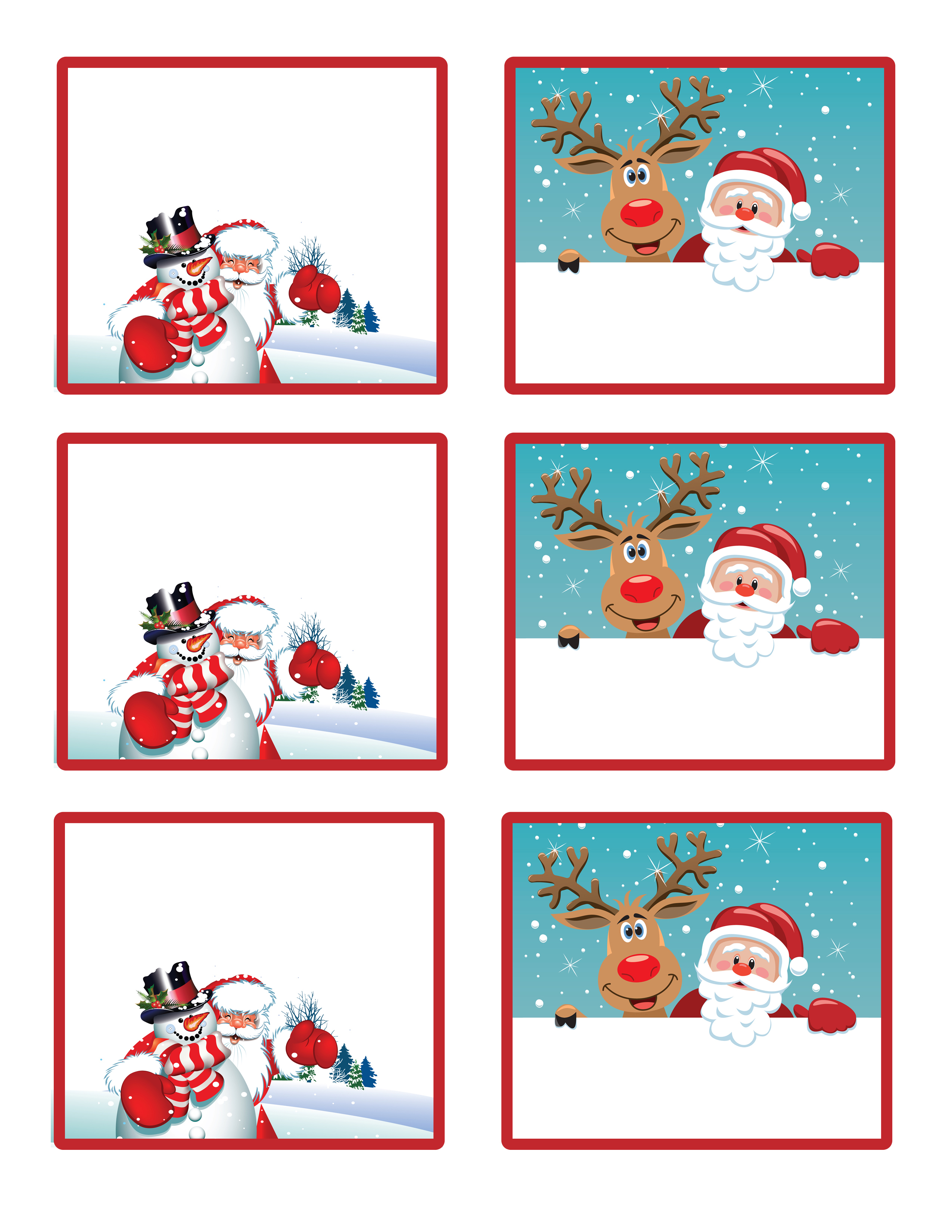 Free christmas clipart name tags.