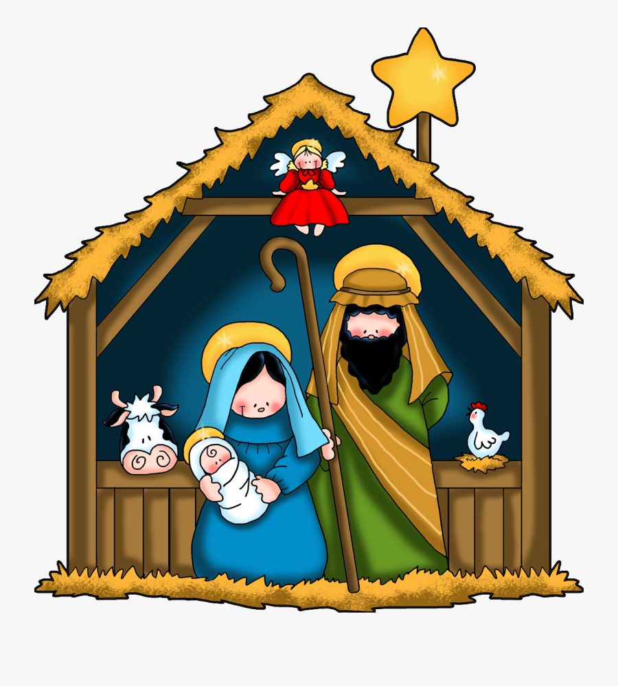 Shepherds Traveling To Jesus Christmas Clipart.