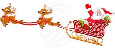 Christmas Clipart Santa Sleigh.