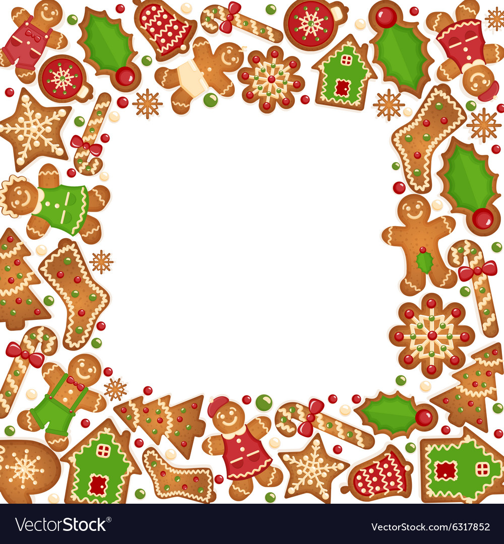 Gingerbread cookies frame.