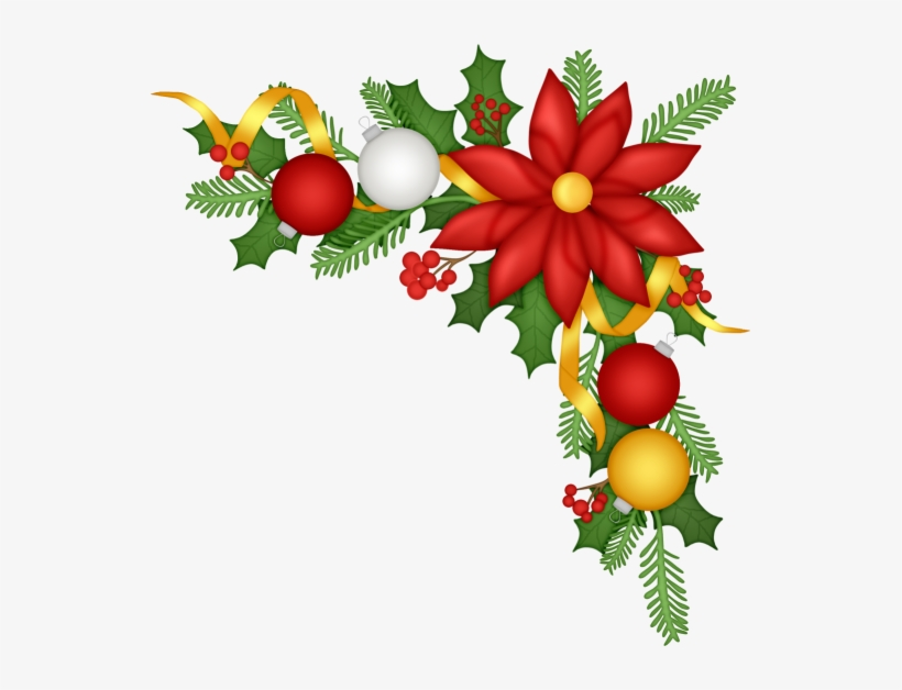 Christmas Corner Decorations Png Download.