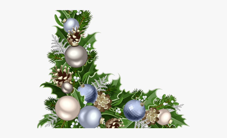 Christmas Ornament Clipart Corner Border.