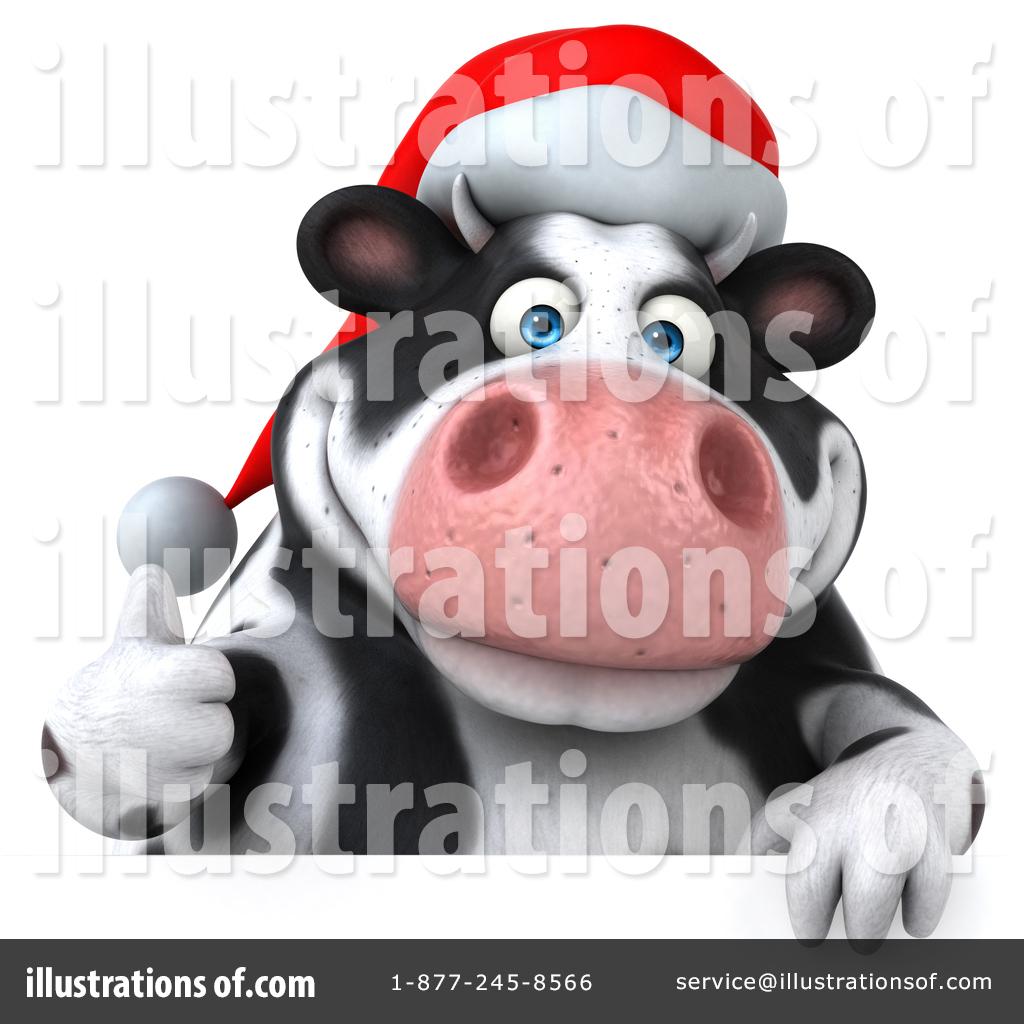 Holstein Christmas Cow Clipart #1437612.