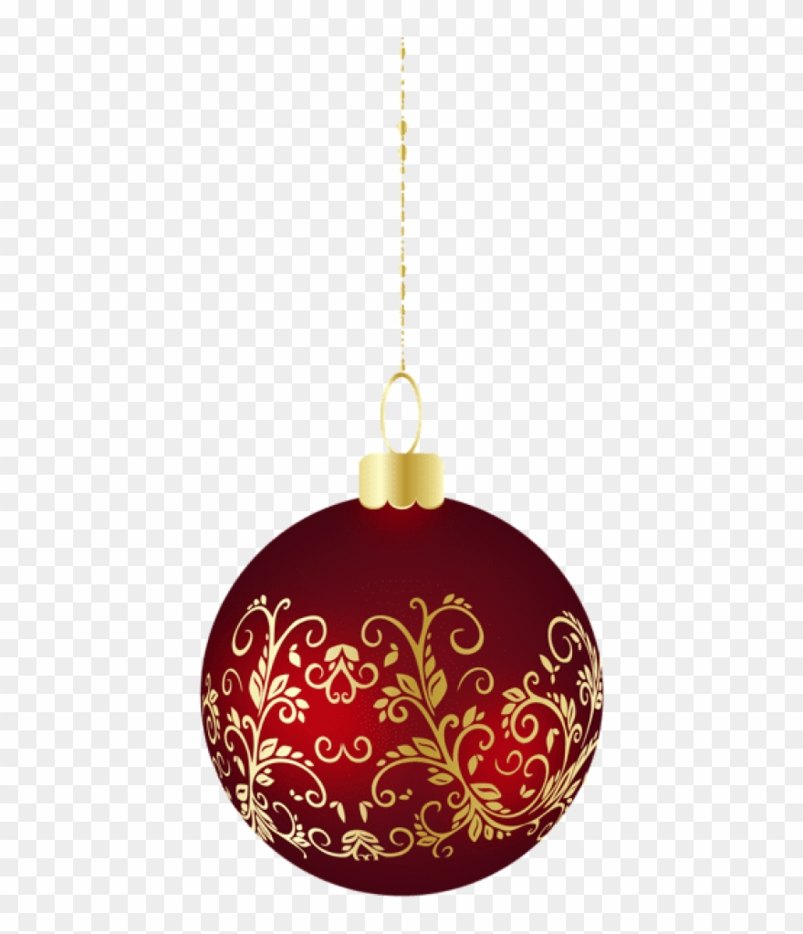 Free Png Large Transparent Christmas Ball Ornament.