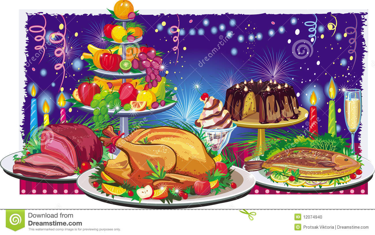Holiday dinner stock vector. Illustration of home, eating.