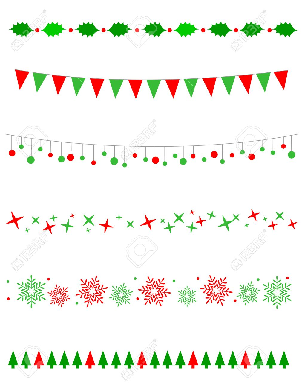 Collection on christmas borders / divider graphics including...
