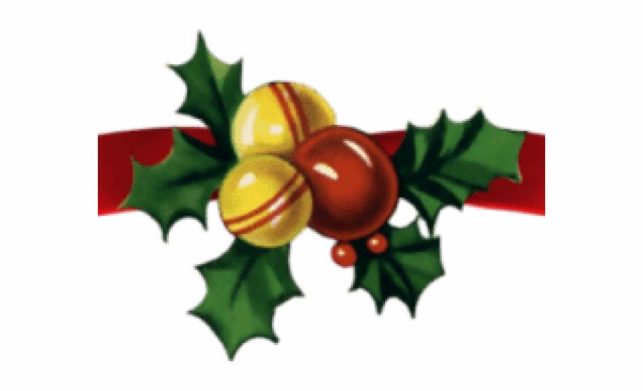Christmas Ribbon Clipart Page Divider.