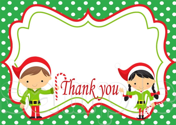 Free clipart christmas thank you.
