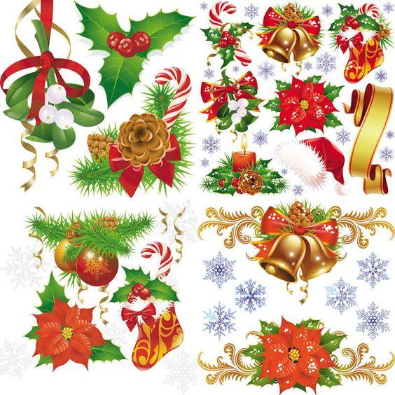 Colorful Christmas embellishment vector.