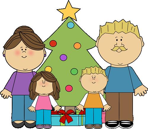 Christmas Family Clip Art.