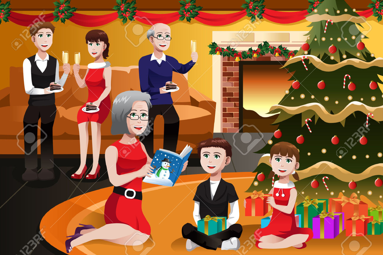 Christmas Family Clip Art Free.