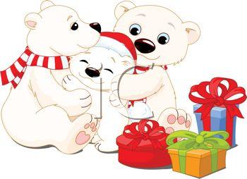 Christmas Family Bears Clipart.