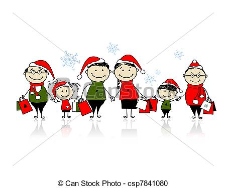 Christmas Family Free Clipart.