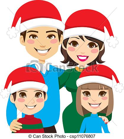 Free Christmas Family Clipart.