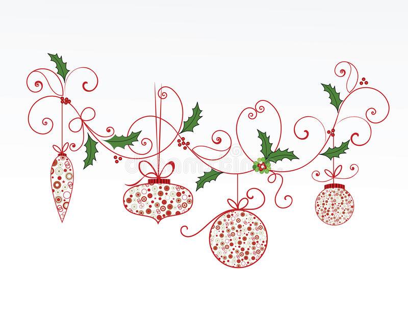 Elegant christmas flourish stock vector. Illustration of holiday.