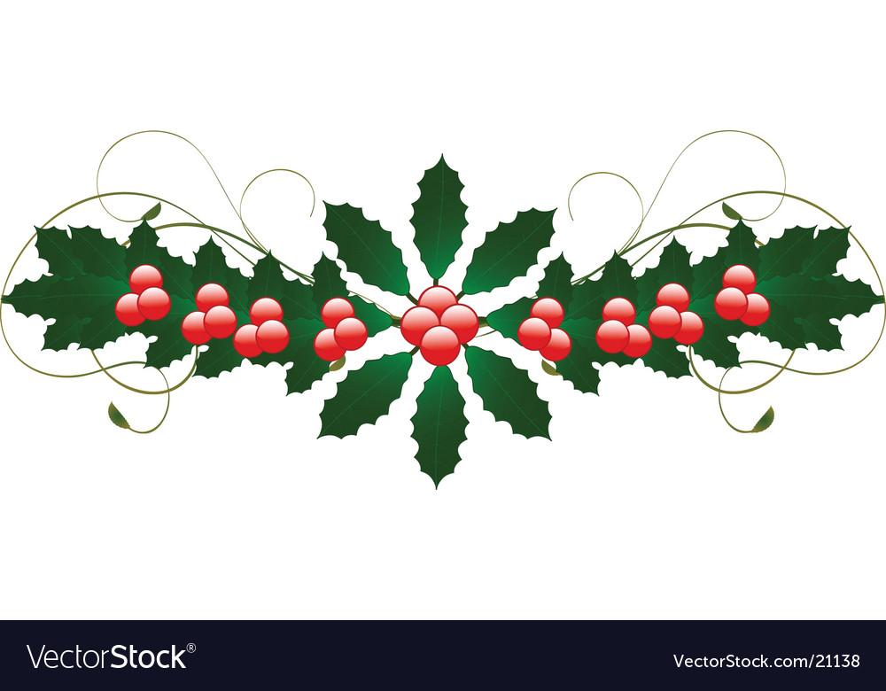 Christmas holly flourish.