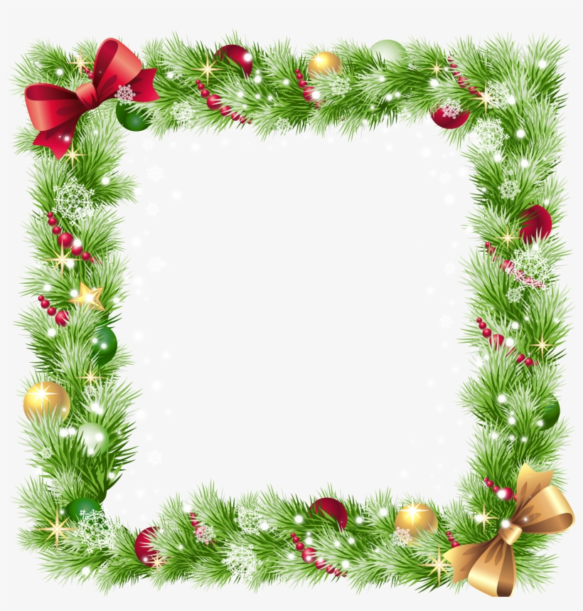 Transparent Christmas Png Border Frame.