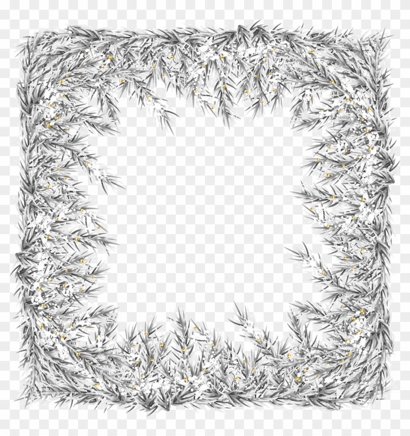 Christmas Frame Border Png Clip Art Image.