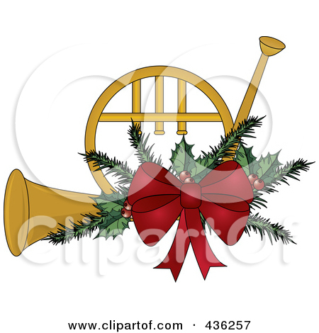 free christmas french horn clipart #14