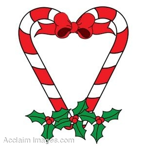 Free clipart of christmas candy hearts.