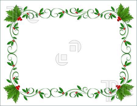 Free Christmas Letterhead Clipart.