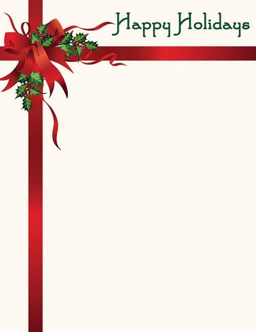 Free Christmas Clipart Letterhead.