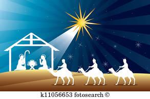 Nativity Scene Clip Art Vectors.