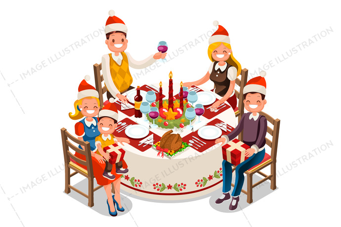 Library of christmas dinner images jpg free library png.