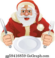 Christmas Dinner Clip Art.