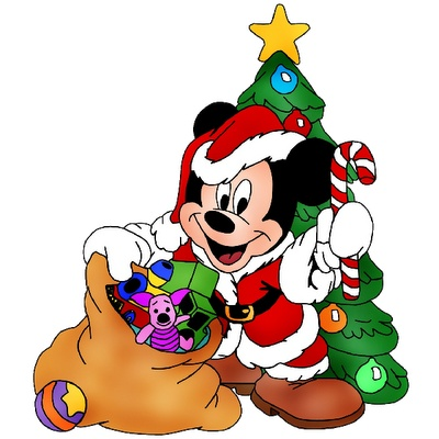 Mickey Mouse Merry Christmas Clipart.