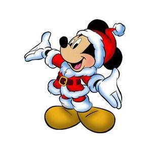 Free Christmas Mickey Mouse Clipart.
