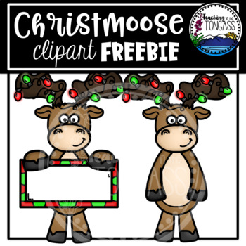 Free Christmas Moose Clipart by Teaching in the Tongass.
