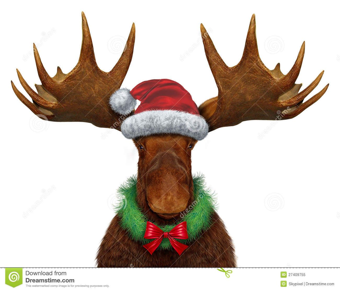 Free Christmas Moose Clipart (47+).