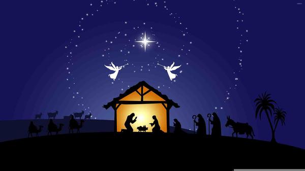 Free Clipart Christmas Nativity Scene.