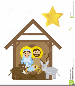 Merry Christmas Nativity Clipart.