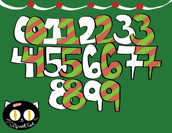 FREE Christmas Numbers Clipart! In Color and Black and White.