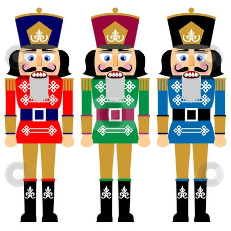 Set of christmas nutcracker Vector Illustration.