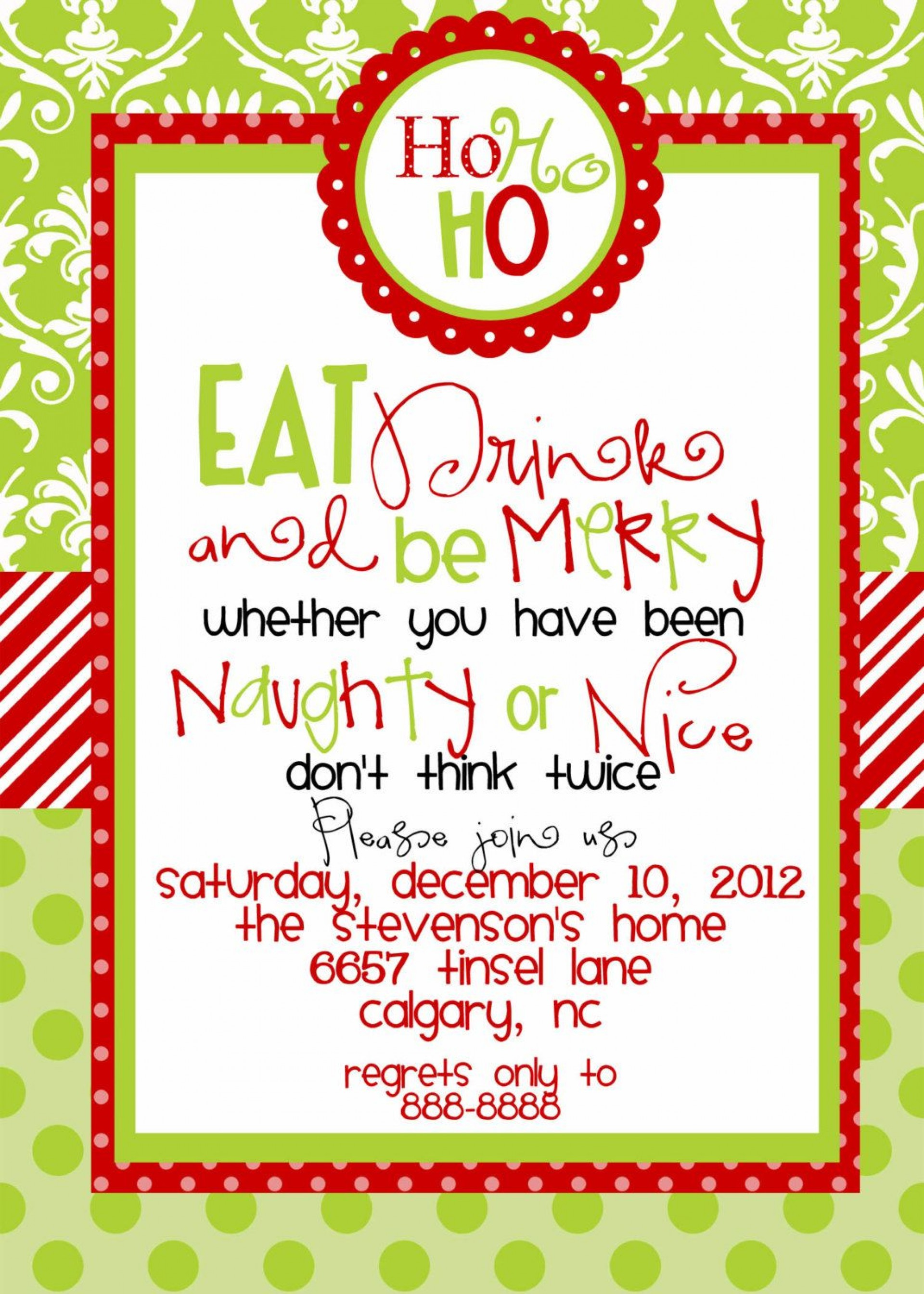 002 Template Ideas Free Christmas Party Invitation Unforgettable.