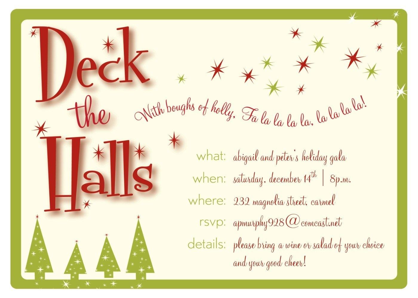 Christmas clip art invitation.
