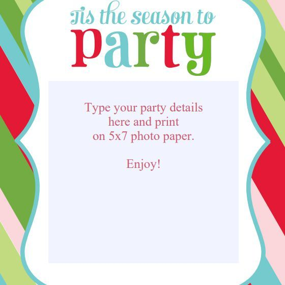 Free christmas party invitation clipart 3 » Clipart Portal.