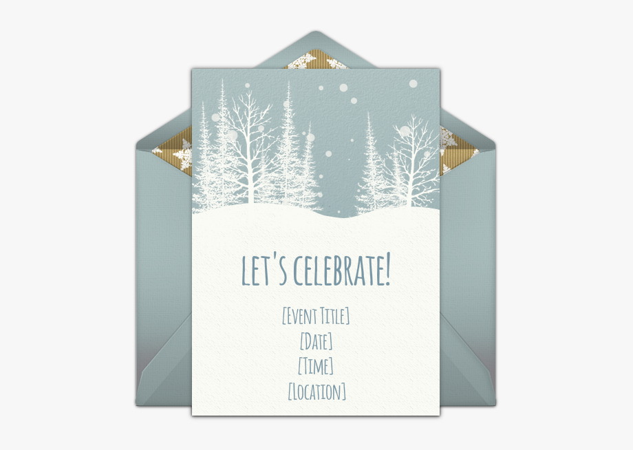 A Great Free Holiday Party Invitation Featuring A Winter.