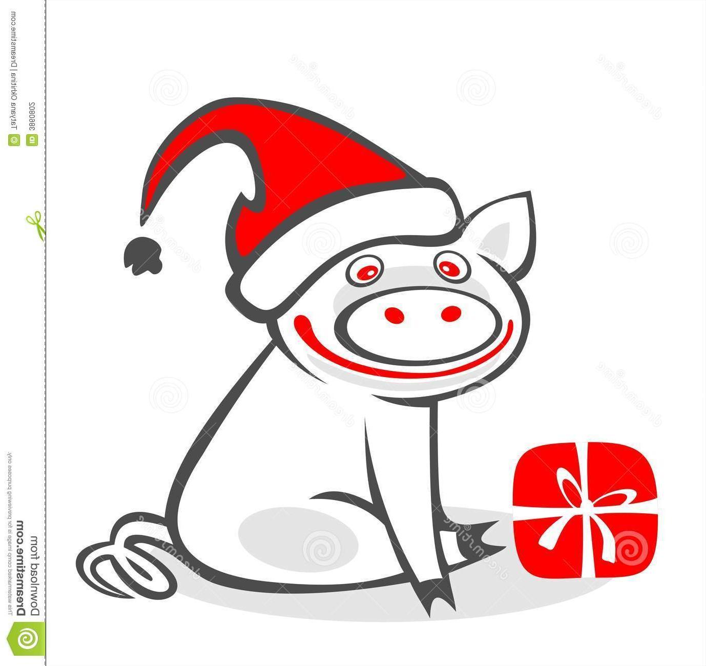 Best Free Christmas Pig Clip Art File Free ~ Vector Images Design.