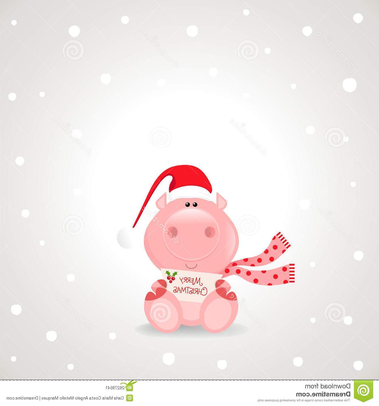 Unique Christmas Pig Clip Art Library » Free Vector Art.