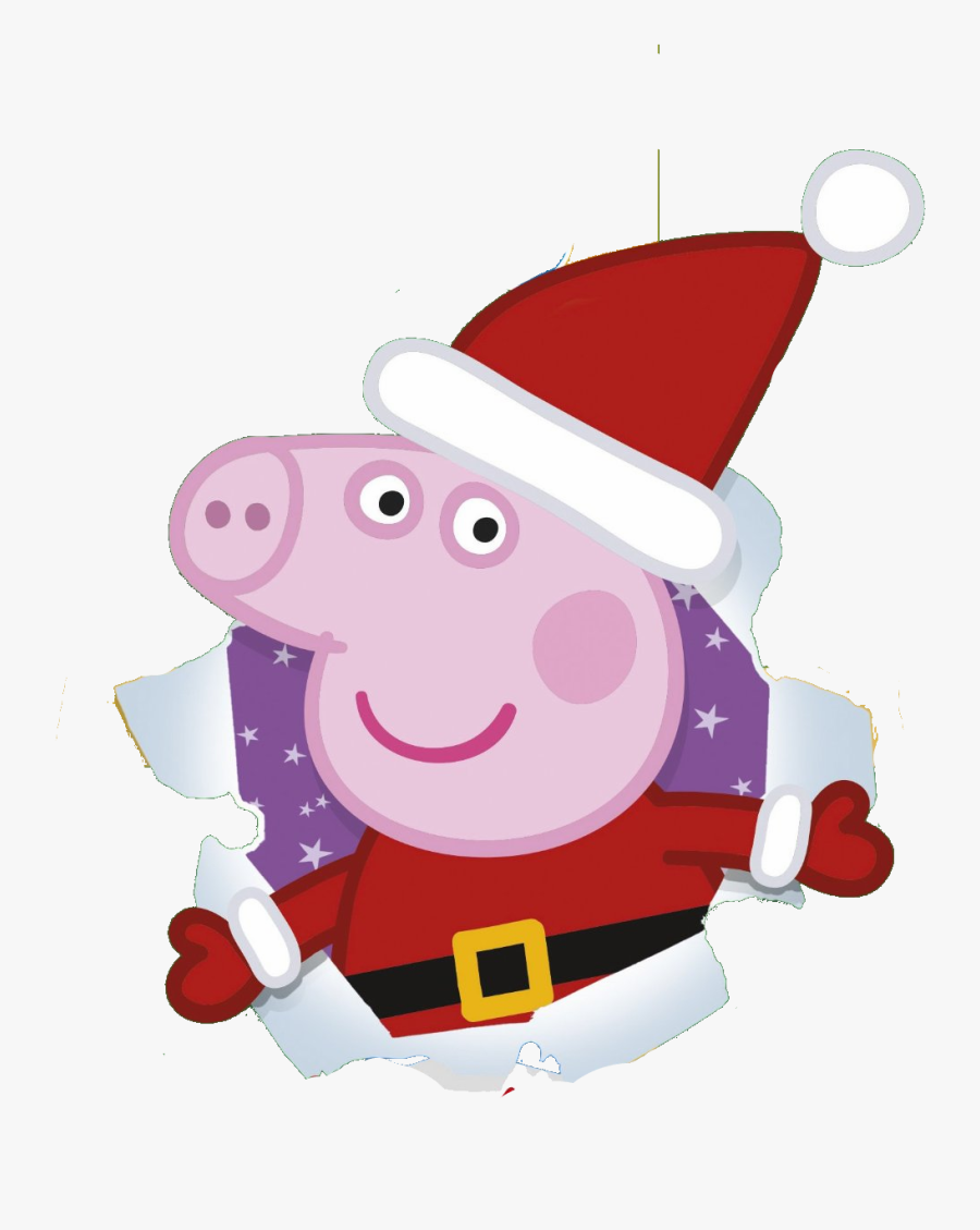 Peppa Pig Christmas Clipart Black And White.