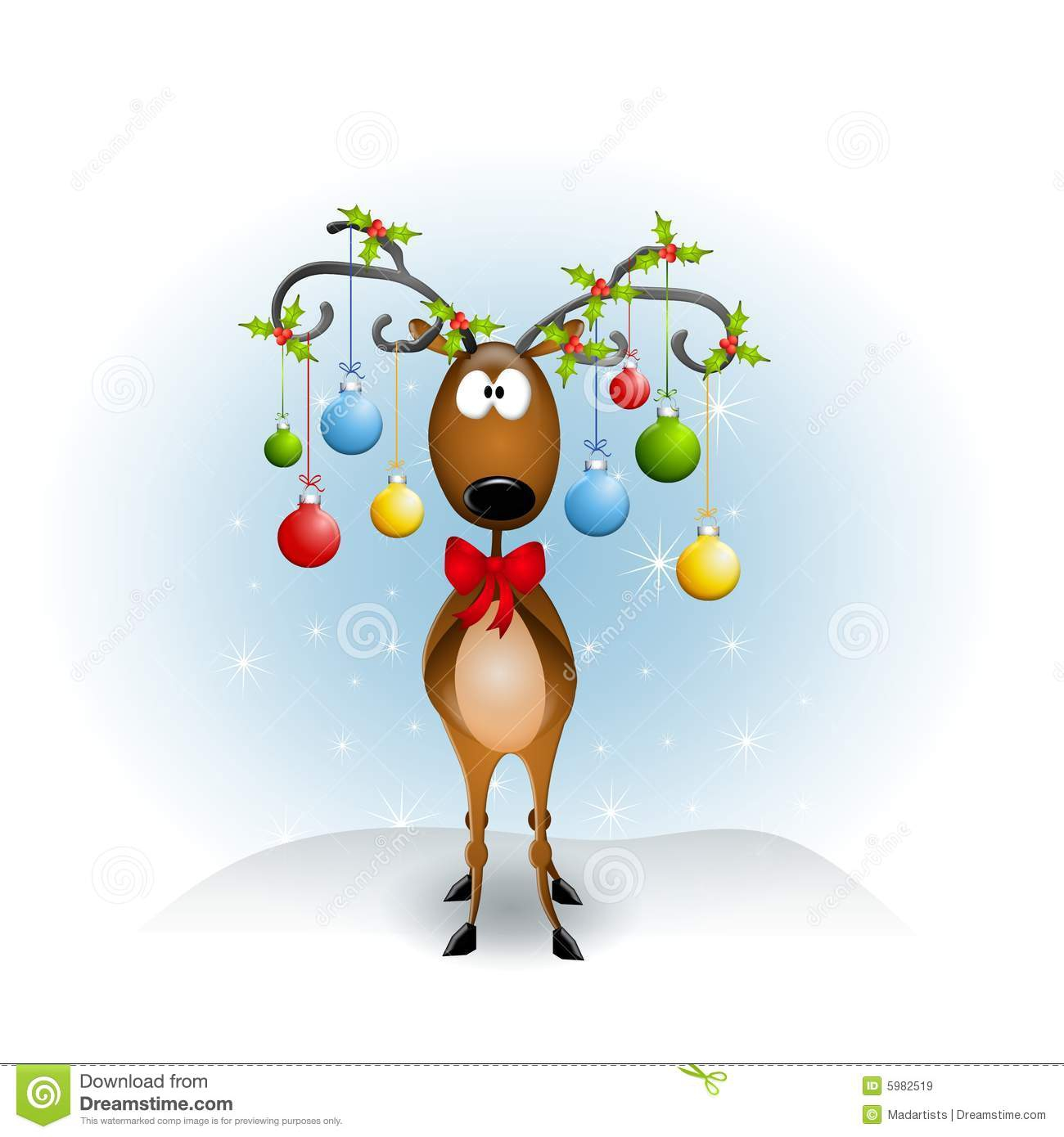 Funny Reindeer Clipart#1896071.