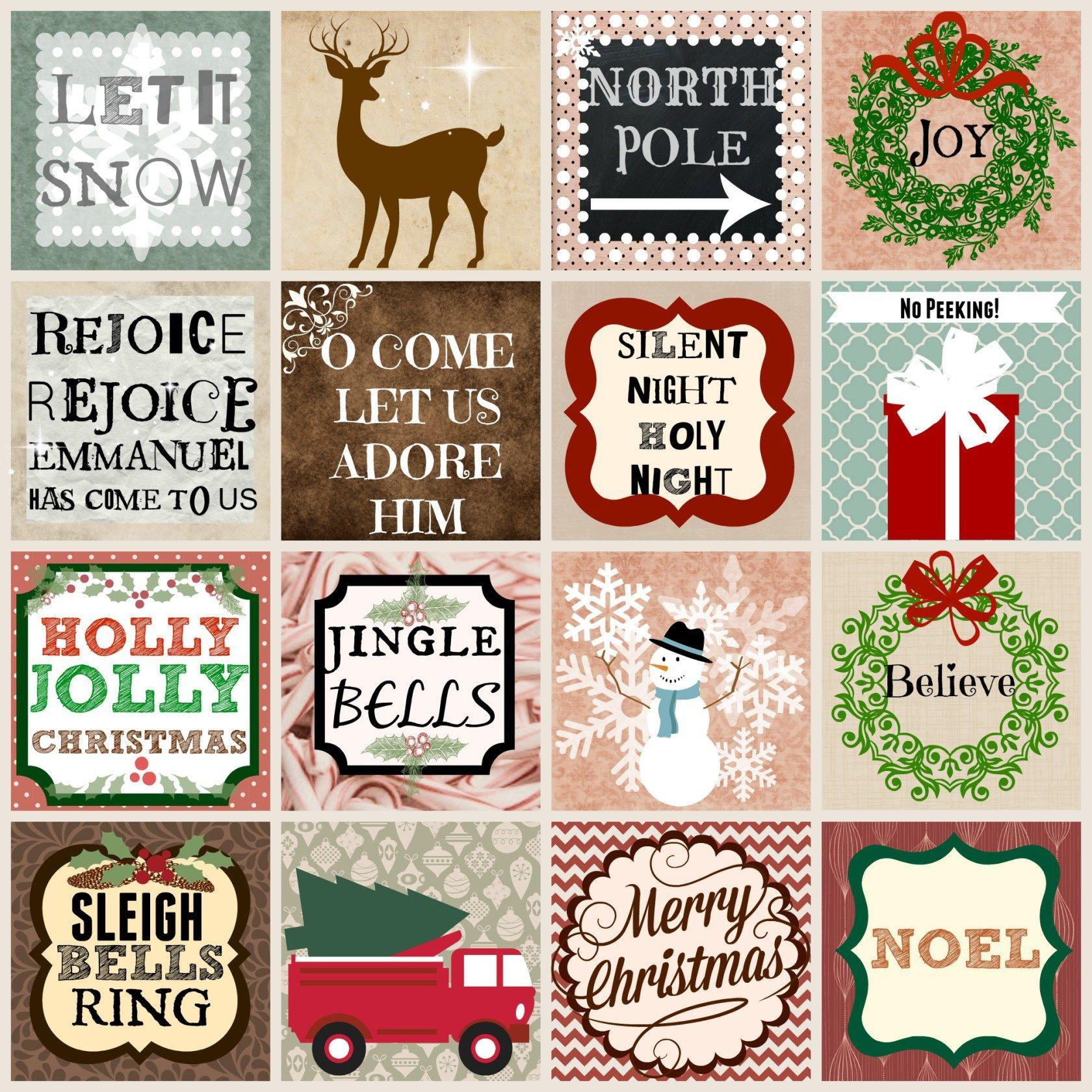NEUTRAL CHRISTMAS SAYINGS AND SQUARES Free Christmas Printables.