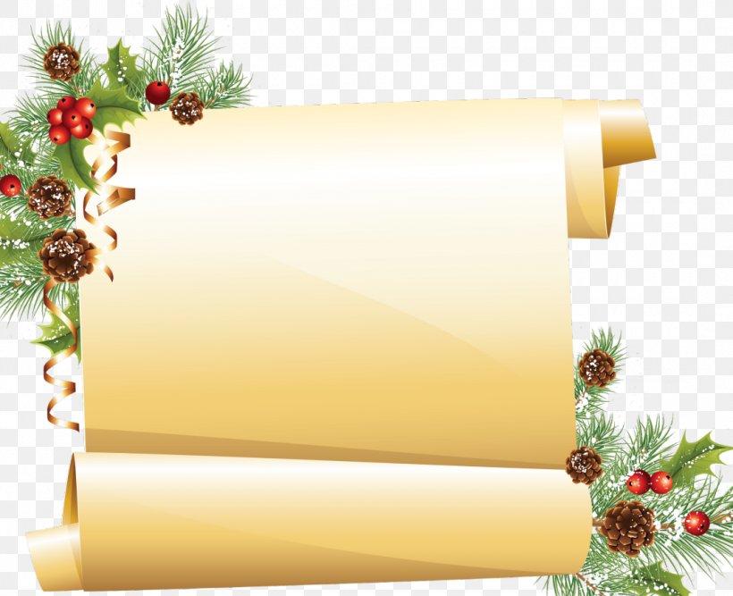 Paper Santa Claus Scroll Christmas Clip Art, PNG, 1080x879px.